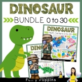 Dinosaur Math Bundle - Numbers To 20 (Math Centers and NO PREP Worksheets)