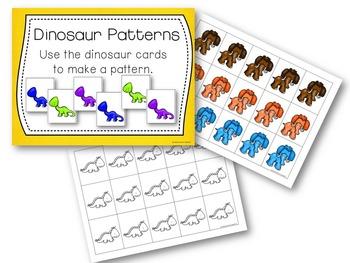 Kindergarten Dinosaur Math Center Activities