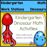 Kindergarten Dinosaur Math Center Activities