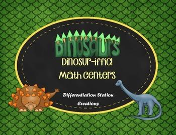 Dinosaur Math Centers: Measurement, Addition, Subtraction,