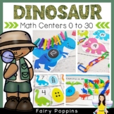 Dinosaur Math Centers - Numbers To 20