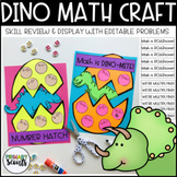Dinosaur Math Craft - Editable, K-3