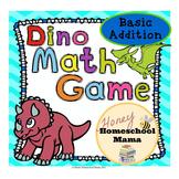 Dinosaur Math Game - Basic Addition - Perfect File Folder Game