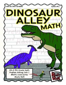 Dinosaur Alley Math - Word Problems & Measurement – Grades 4 & 5