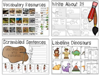 Dinosaur Math & Literacy Activities Bundle