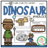 Dinosaur Math Mats for Centers