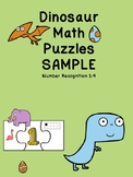 Dinosaur Math Puzzle SAMPLE