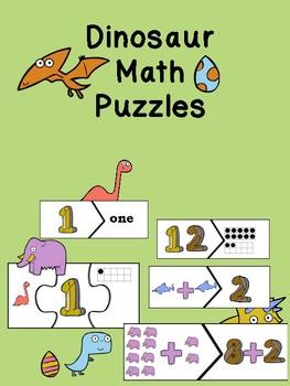 Dinosaur Math Puzzles
