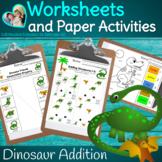 Dinosaur Math Simple Addition Worksheets