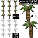 Dinosaur Math Ten Frames Clip Art {jen hart Clip Art}