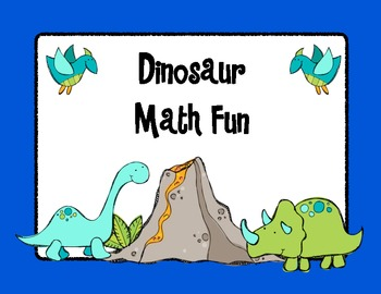 dinosaur math unit by kroger 39 s kindergarten teachers pay teachers. Black Bedroom Furniture Sets. Home Design Ideas