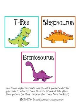 Dinosaur Math & Writing Activities Pack!