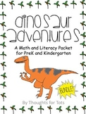 Dinosaur Math and Literacy BUNDLE for PreK and Kindergarten