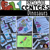 Dinosaur Math and Literacy Centers for Preschool