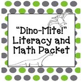 Dinosaur Math and Literacy Packet