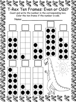 Dinosaur Math and Literacy Packet for PreK and Kindergarten