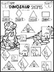 Dinosaur Math and Literacy Worksheets for Preschool (February)