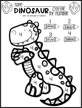dinosaur math and literacy worksheets for preschool february tpt. Black Bedroom Furniture Sets. Home Design Ideas