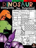 Dinosaur Math and Literacy Worksheets for Preschool (February)