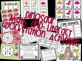 Dinosaur Math and Literacy Workstation Activities
