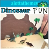 Dinosaur Math and Literacy Centers for Preschool, Pre-K, a