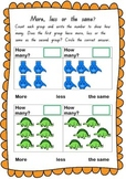 FREE Dinosaur Maths - Counting and Comparing Numbers to 10.