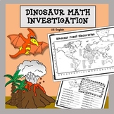 Dinosaur Math and Science Investigation NO PREP US