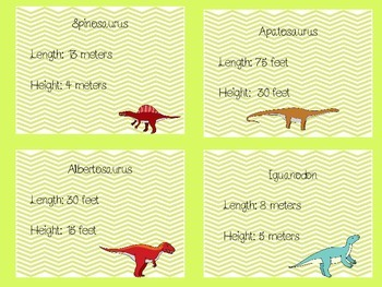 Dinosaur Measuring