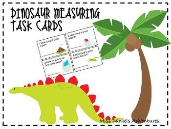Dinosaur Measuring Task Cards Freebie