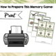 Paleontology Unit Study: Dinosaur Memory Game