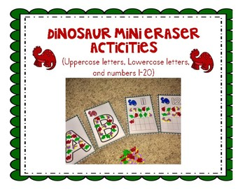Dinosaur Mini Eraser Activities