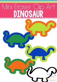 Dinosaur Mini Eraser Clip Art