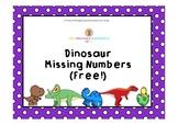 Dinosaur Missing Numbers