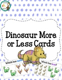 Dinosaur More or Less Math Cards