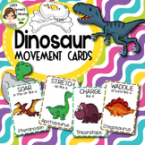 Dinosaur Movement Cards and Brain Breaks (Transition activity)