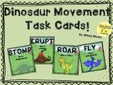 Dinosaur Movement Task cards