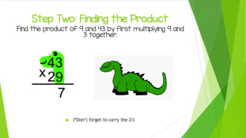 Multi-Digit Multiplication Steps (Dinosaur Multiplication)