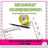 3rd Grade Multiplication Centers: Dinosaur Multiplication Themed