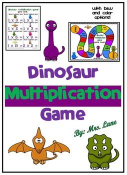Dinosaur Multiplication Game