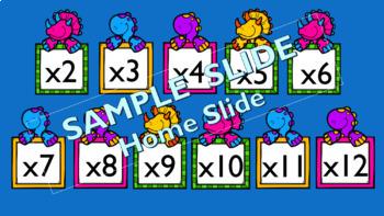 Dinosaur Multiplication Practice Powerpoint Slideshow