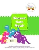 Dinosaur Music Note Match