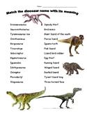 Dinosaur Name Matching