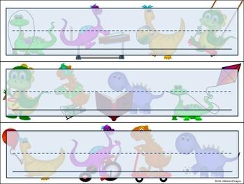 Dinosaur Name Plates