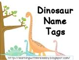 Dinosaur Name Tags