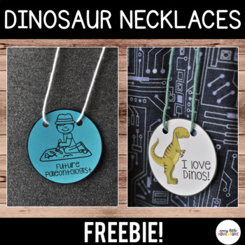 Dinosaur Necklaces - Freebie
