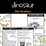 Dinosaur Nonfiction Mini Readers