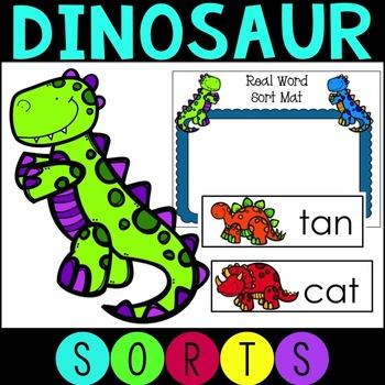 Dinosaur Nonsense Word Sort for Literacy Work Stations