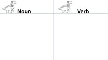 Dinosaur Nouns and Verbs