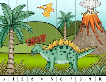 Dinosaur Number Puzzles & Alphabet Puzzles - includes Skip Counting