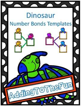 Dinosaur Number Bond Templates